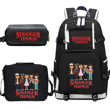 Stranger Things Canvas Backpack Set School Bags for Girls Boys College Students Travel Rucksack Teenage Laptop Travel Backpacks