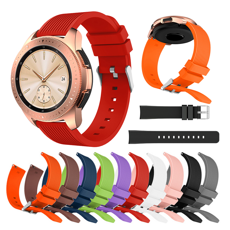 For Samsung Galaxy Watch 46mm Bands 22mm Silicone Replacement Wirst Strap For Gear S3 Frontier Classic Band 20mm S2 Bracelet