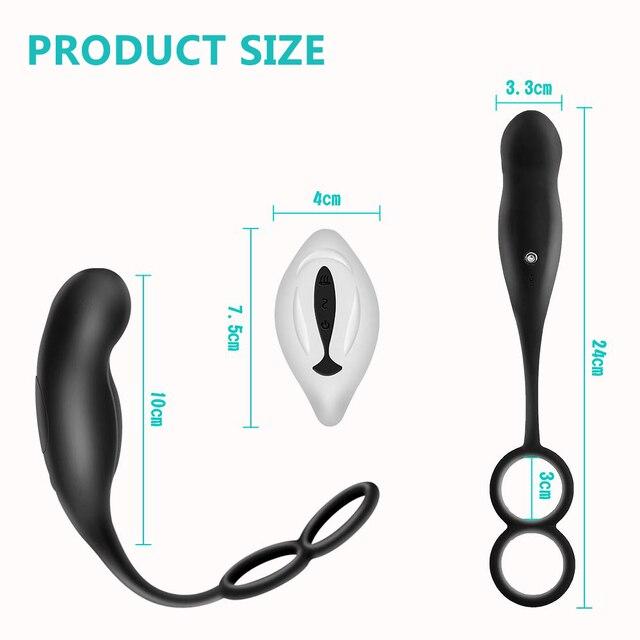 Male Prostate Massage Vibrators With Semen Lock Ring Anal Plug Wireless Remote Control Sex Toys for Men Gay Masturbator 6