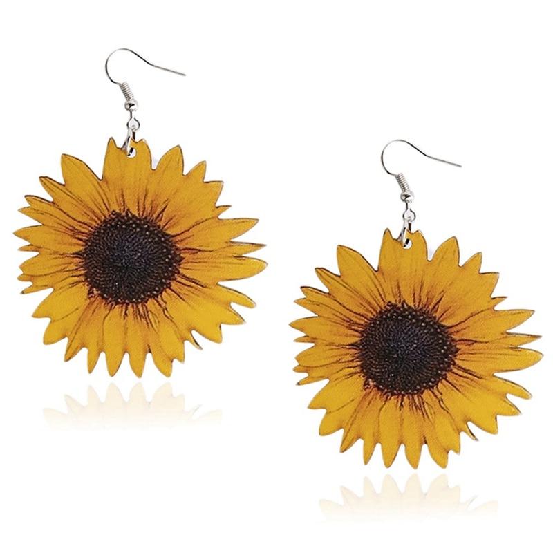 Sunflowers Earrings For Women Charming Lovely Cute