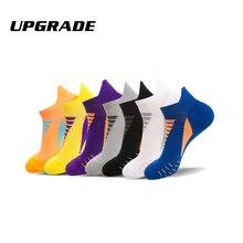 Мужские спортивные носки Coolmax для верховой езды, велоспорта, баскетбола, бега, спортивные носки, летние походные, для тенниса, лыжного спорта, мужские, женские, велосипедные, Нескользящие
