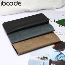 Iboode Чехол для очков из искусственной кожи в винтажном стиле для мужчин и женщин, водонепроницаемый мягкий держатель для очков, футляр для очков, однотонный чехол для хранения, 3 цвета