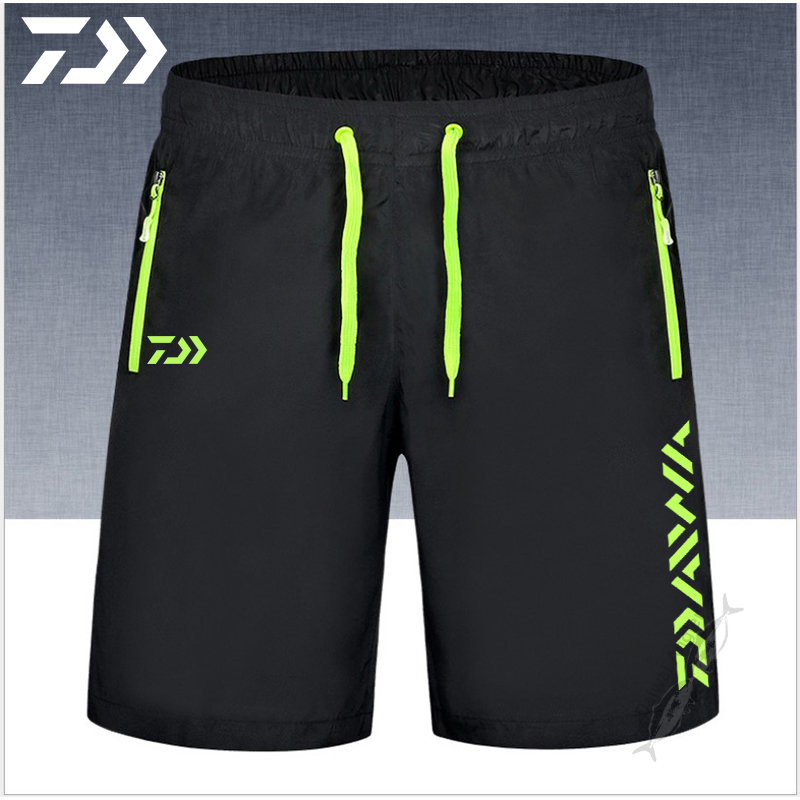 Fishing Shorts For Men Summer Breathable Multi Pocket Zipper Fishing Clothing Men's Sport Pants Daiwa Fishing Pants Unisex M-9XL