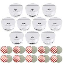 10x Feueralarm DC3V 10 years Lithium Batterien & Magnethalter Rauchmelder Magnet Brandmelder with TUV & VDS3131 approval