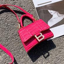 Mini Sac à main en cuir pour femmes, Sac à bandoulière de marque de luxe de styliste, motif Crocodile, pochette, bourse, 2021