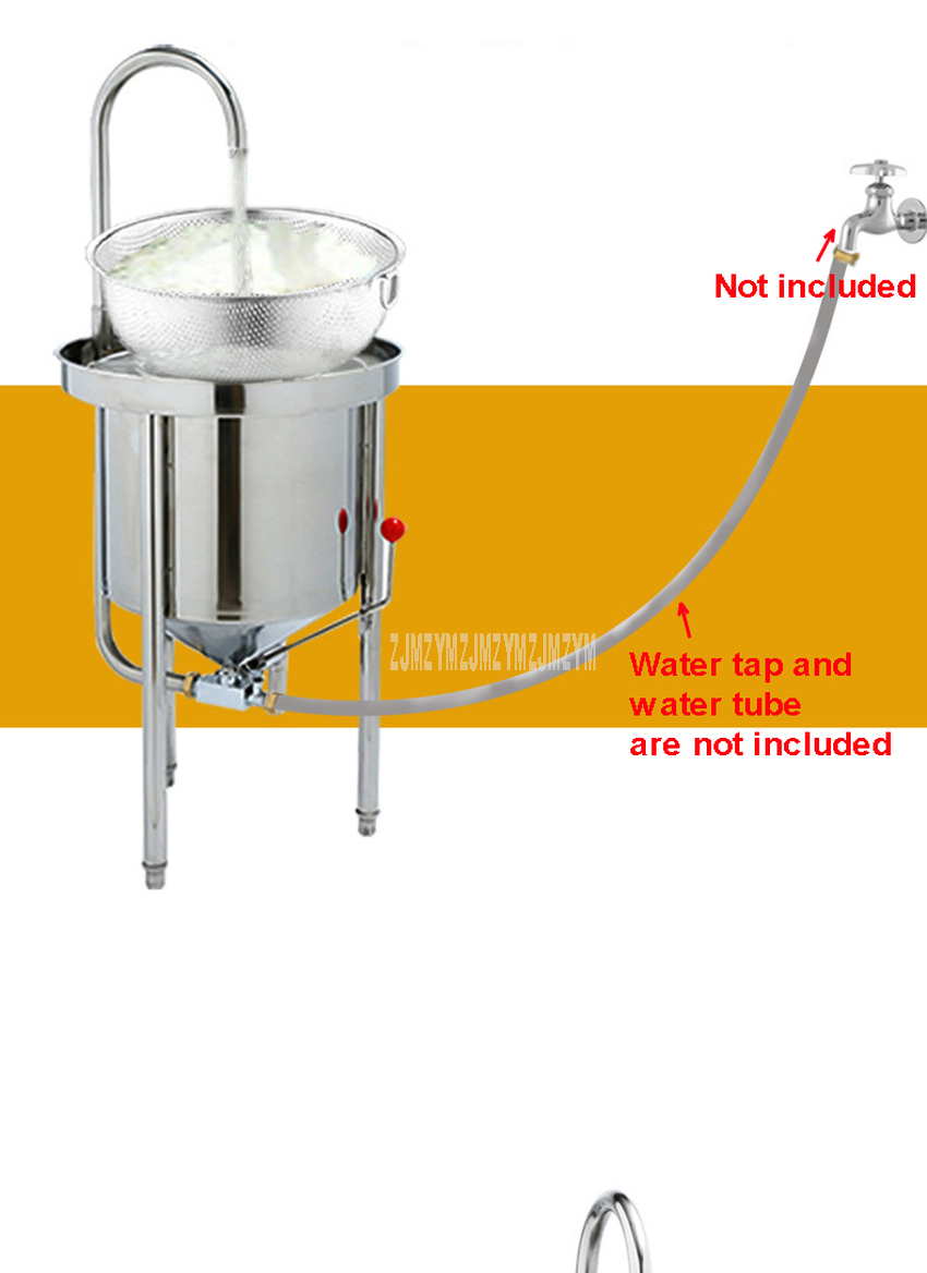 25kg Washing Capacity Automatic Stainless Steel Rice Washing Machine Commercial Large Water Pressure Rice Washer For Restaurant 5