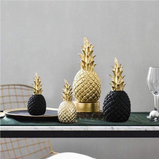Nordic Modern Home Decor Golden Pineapple Creative Wine Cabinet Window Desktop Display Props Home Decoration Accessories 3