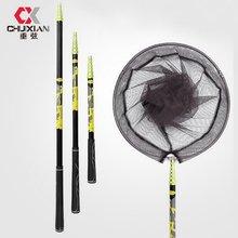 2.1M 3M 4M Collapsible Catch Fishing Net Foldable Carbon Long Handle Telescopic Fish Catching Landing Nets Gear Depth Dip