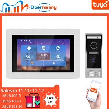 Doornanny Tuya IP Video Intercom Door Phone Wireless System Kit Building Units WiFi 720P