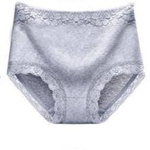 Large Size High Waist Cotton Panties Briefs Women Sexy Underwear