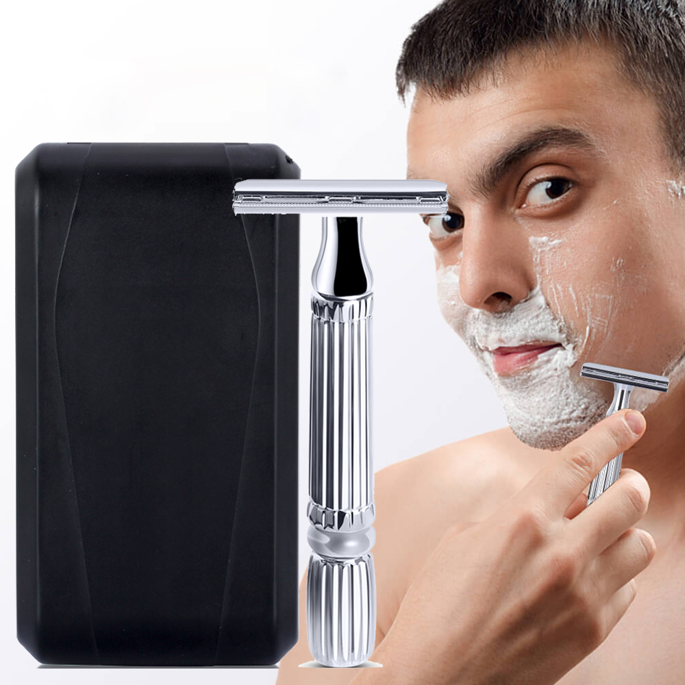 Safety Double Edge Razor For Men Shaving Set Knife Barber Straight Razor Men's Shaving Razor Blades Shaving Machine