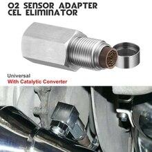 Paslanmaz çelik oksijen O2 sensörü genişletici Spacer adaptörü Bung katalitik konvertör kontrol kontrol motor işığı oksijen sensörü