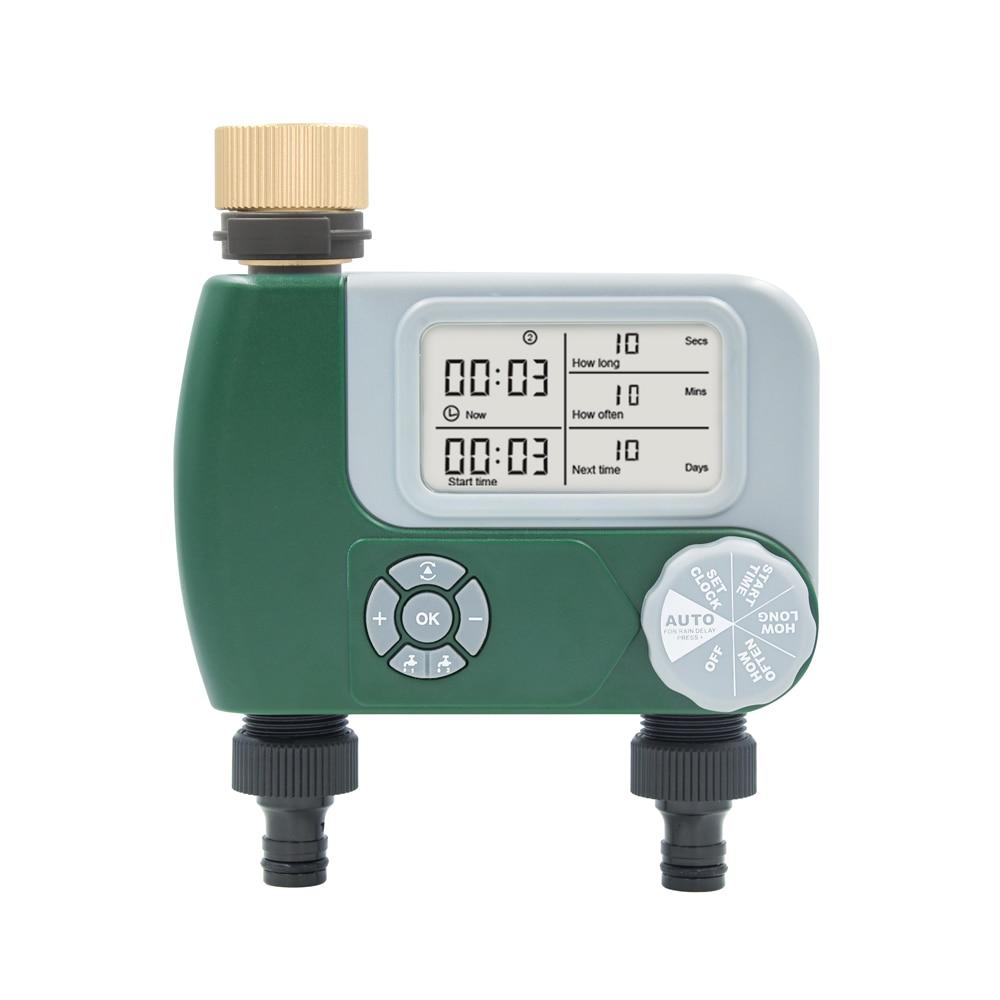Автоматический таймер воды NBBX 6610, контроллер полива сада, контроллер разбрызгивателя, программируемый клапан для шланга, смесителя, таймер ...