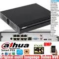 Dahua mutil language NVR4108HS 8P 4KS2 8ch PoE ports 8MP Resolution 4K H.265 Lite Network Video Recorder DHI NVR4108HS 8P 4KS2