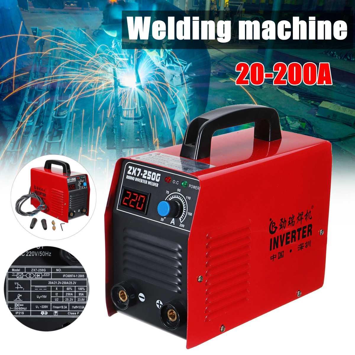 Portable Electric Welder ZX7-250G  IGBT/MMA/ARC Inverter Power Welding Machine Soldering Tool