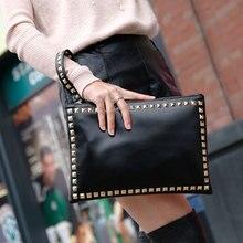 Fashion Rivet Handbag High Quality Leather Women Handbag Crossbody Shoulder Bag Envelope Clutch Bag Womens Handbags Purses #30