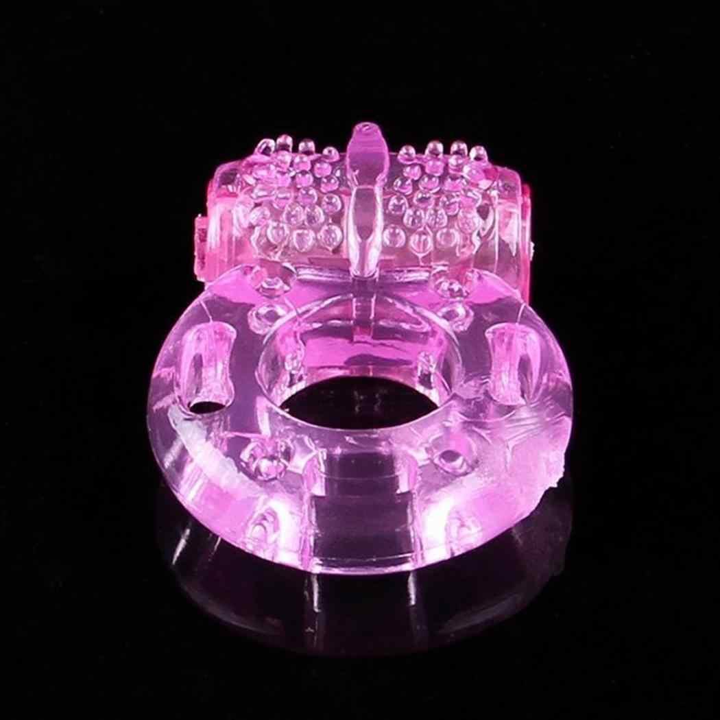 Мужские Силиконовые вибрирующий пенис кольцо бабочка пенис кольца мужчины эрекция тренировочный вибратор для задержки эякуляции секс игрушка мастурбатор