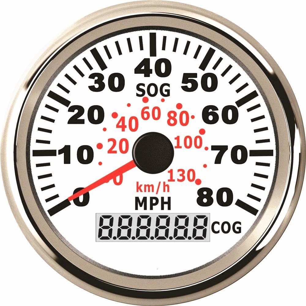 Indicateurs de vitesse GPS étanches 85mm avec rétroéclairage indicateur de vitesse Auto tableau de bord jauges de vitesse 0 130 km/h 0 80MPH-in Compteurs de vitesse from Automobiles et Motos on Kadir Koc Professional Spare Parts Store