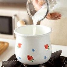 Milk-Pot Cookware Gas-Stove Wooden-Handle Milk-Coffee-Saucepan Breakfast Induction Enamel