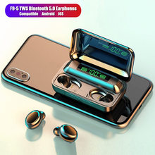 F9 TWS Bluetooth 5.0 Earphones Wireless headphones Mobile Phone Charging Box Headset Case Mini in ear Earbuds For Android IOS цена 2017