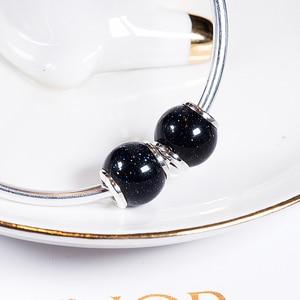 Image 2 - Azul venus pedra 925 prata esterlina contas encantos ajuste pulseiras & pulseiras trbs016