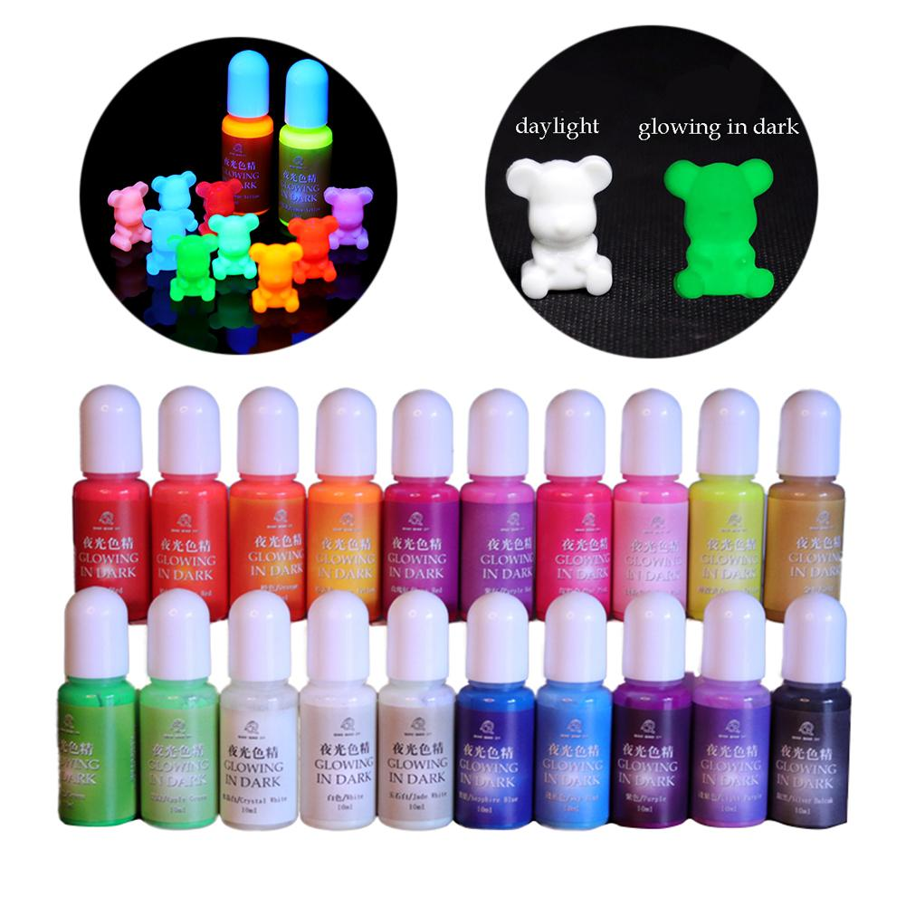 20 Colors Luminous Pigment Dye UV Resin Epoxy DIY Making Crafts Jewelry Toys Gift Decoration Handmade Crafts Art Sets