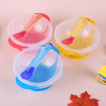 Temperature Sensing Feeding Spoon Child Tableware Food Bowl  Suction Cup Baby Dinnerware Set