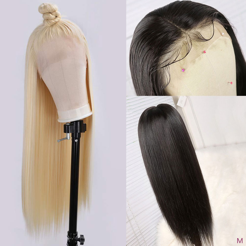 613 Honey Blonde Color Remy Brazilian Straight 13x4 Lace Front Human Hair Wig 8-28 inch Ombre Frontal Wigs For Black Women 150%