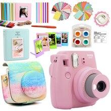 Fujifilm Instax Mini 9 Kamera Nur/Mit 50 Blatt Weiße Mini Film Fotos/13 In 1 Kit Fall tasche + Aufkleber + Andere Zubehör