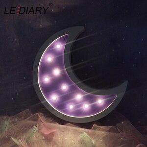 Image 5 - LEDIARYไม้Night Lightโคมไฟข้างเตียงMoon Star LED Night Lightรอมฎอนตกแต่งห้องเด็กเด็กห้องนอน