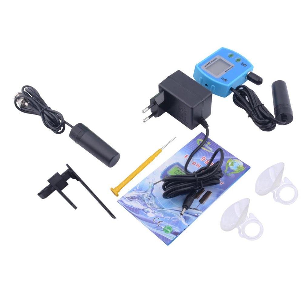 Professional 2 In 1 PH Meter EC Meter For Aquarium Multi-parameter Water Quality Monitor Online PH/EC Monitor Acidometer