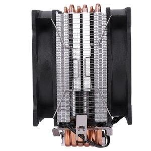 Image 3 - 雪だるまM T6 4PIN cpuクーラーマスター 6 ヒートパイプのダブルファン 12 センチメートル冷却ファンLGA775 1151 115X 1366 サポートインテルamd