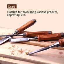 4Pcs 280mm Chrome Vanadium Steel Wood Chisel Set 6/12/19/25mm Flat Carving Chisel Carpenter Tools Wood Carving Knife Graver