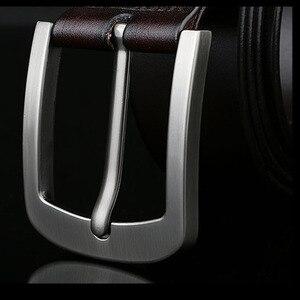 Image 4 - 140 150 160 170 centimetri di Grandi Dimensioni 100% Della Mucca del Cuoio Genuino degli uomini della Cinghia di Casual Metallo Spille Staccabile Fibbia Cinghie ceintures Cinture di Jeans