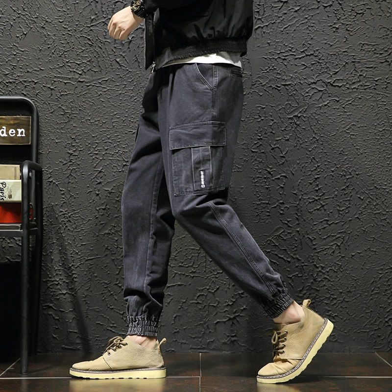 2019 New Men 39 s Side Pockets Cargo Harem Pants Hip Hop Casual Solid color Male Joggers Trousers Fashion Casual Streetwear Pants in Cargo Pants from Men 39 s Clothing