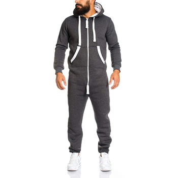 ZOGAA Brand New Mens Casual Sets Fashion Color Block Rompers Tracksuit For Men Sweatsuit Male Outfit Sportswear