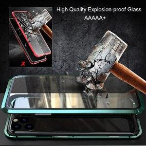 Image 5 - Luphie Enveloppement Complet pour iphone 12 Pro Max mini 11 Xs 9H Verre Trempé Téléphone Magnétique Cas X SE 7 8 Plus Xr Couvercle Magnétique