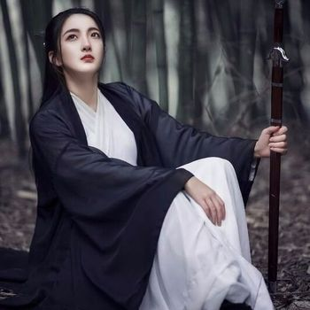 2020 Hanfu Coat Chinese Style Traditional Daily Pure Han Tang Ancient Women Chiffon Cardigan Clothes for