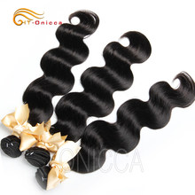 Htonicca Peruvian Body Wave 100% Remy Hair 8-28 Inches 1/3/4 Hair Bundles Human Hair Double Weft For Black Women Free Ship(China)