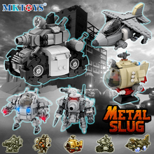 Metal Slug Military Assembled Building Blocks Set Tank Battle Airplane Robot Weapon Creator Army 3D MOC Model Soldiers Kids Toys