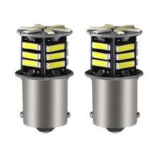 Комплект из 2 предметов 1156 Led Canbus 21SMD 7020 P21w лампы 1156 1157 лампа стоп-сигнал светильник s сигнала поворота светильник парковки заднего фонаря BA15S (...