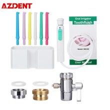 6Nozzle Faucet Oral Irrigator Water Dental Flosser Portable Dental Irrigador Water Jet Toothbrush Oral Irrigation Teeth Cleaning