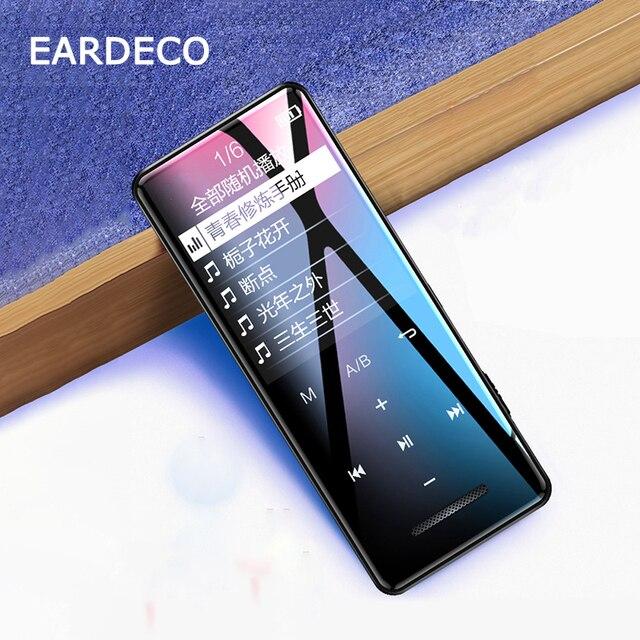 EARDECO Schermo Pulsante A Sfioramento Audio Mp3 Lettore Bluetooth Hifi Walkman Portatile In Metallo Lettori di Musica Mp 3 Hi Fi Flac Lossless