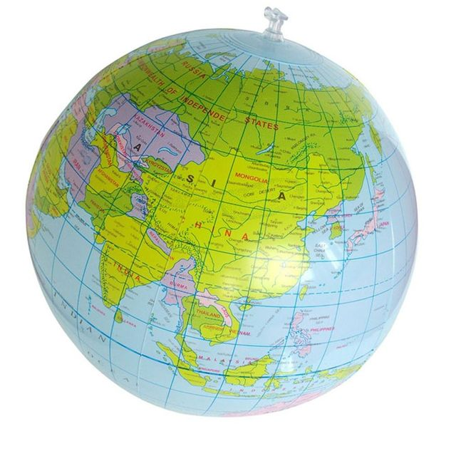 30cm Inflatable Toys For Children PVC Map Balloon Inflatable Earth English Version World Globe Education Geography Kids ToyOutdoor Fun & Sports