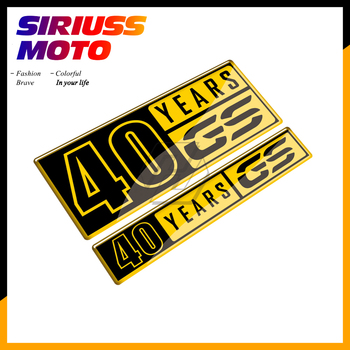 3D Resin Motorcycle Tank Pad 40 Years Sticker Case for BMW F700GS F800GS F850GS G310GS F650GS R1200GS R1250GS Decals image