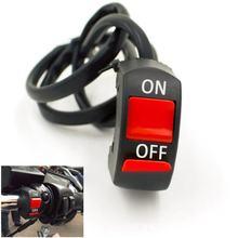 1 peça interruptores da motocicleta conector da bala guiador interruptores de ligar/desligar botão conector interruptor de botão acessórios moto