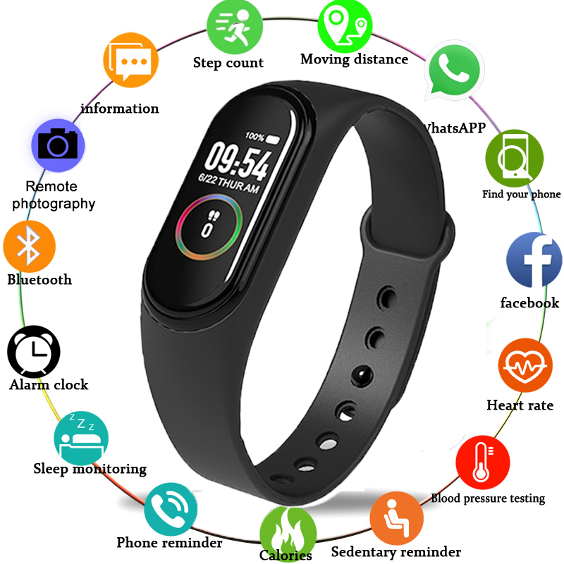 M4 SmartBand Wristband Heart rate Blood Pressure Heart Rate Monitor Pedometer Sport Smart Watch Bracelet Health Fitness bracelet