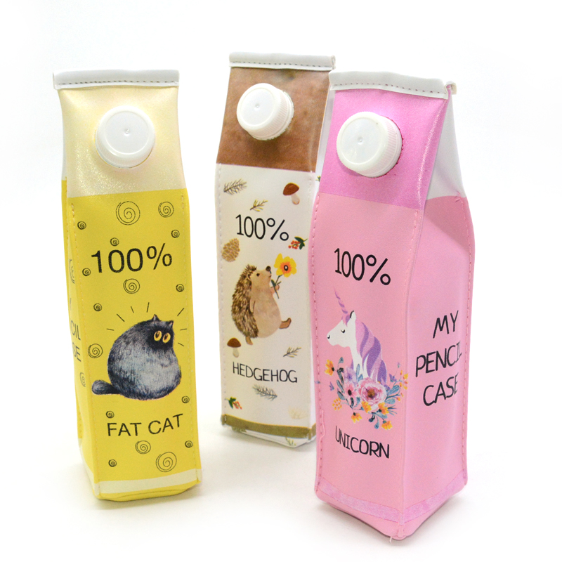 Milk Pencil Case  Estojo Material Escolar Estuche Kalemlik Estuches Unicorn Kalemlik Pencilcase Trousse Scolaire Stylo Cat