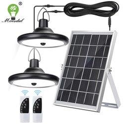 Двойной головкой Солнечный подвесной светильник Водонепроницаемый высокое Ёмкость на открытом воздухе/Солнечная лампа для помещений подх...
