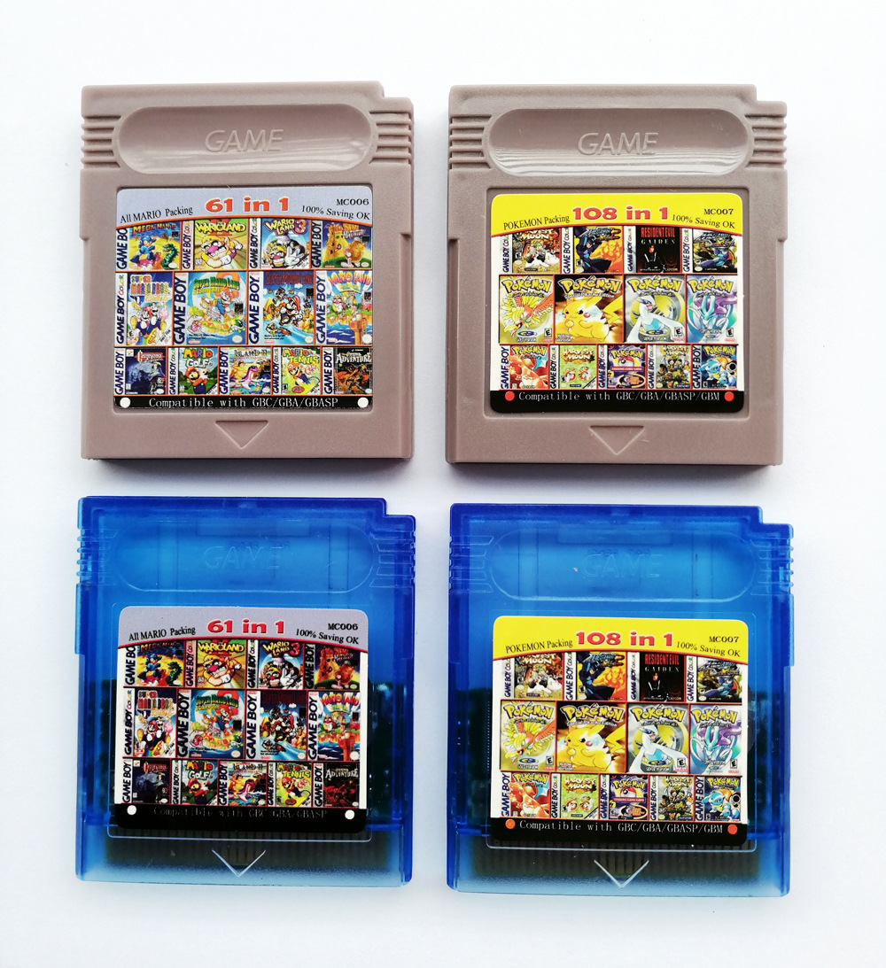 TAKARA TOMY Pokemon Series 108in1 Video Game Cartridge Console Card Classic Game Collect Colorful Version English Language